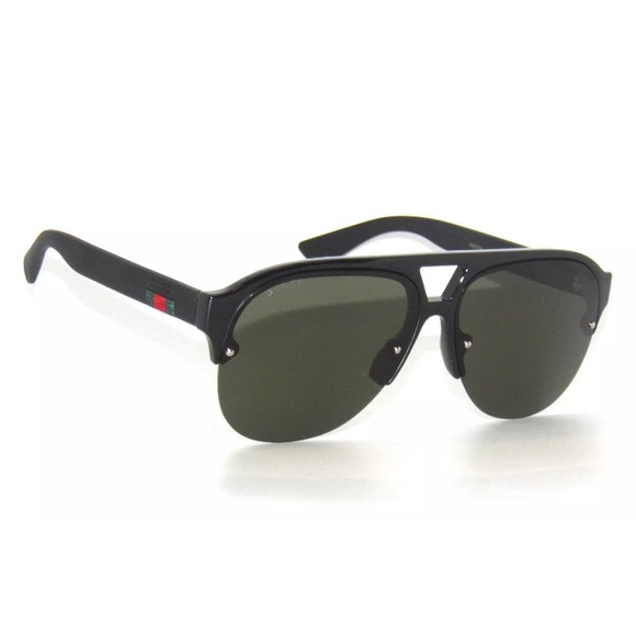ea93252d5ab Gucci Sunglasses 0170S Black Frame and Green Lens